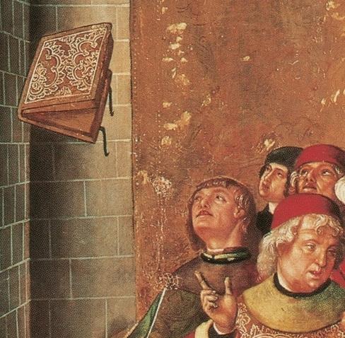 Berruguete, L'ordalia dei libri (part.)