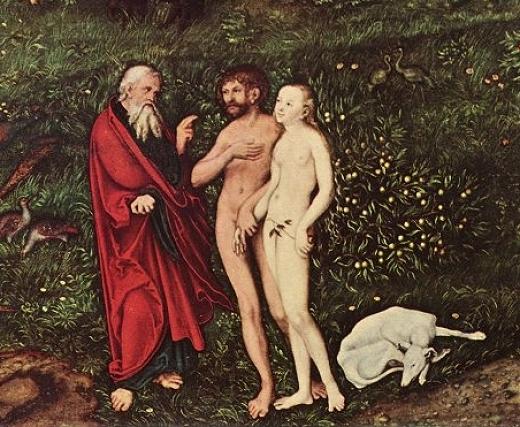 Dio Adamo Eva Cane