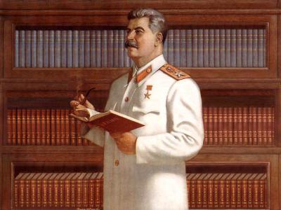 Stalin legge Lenin