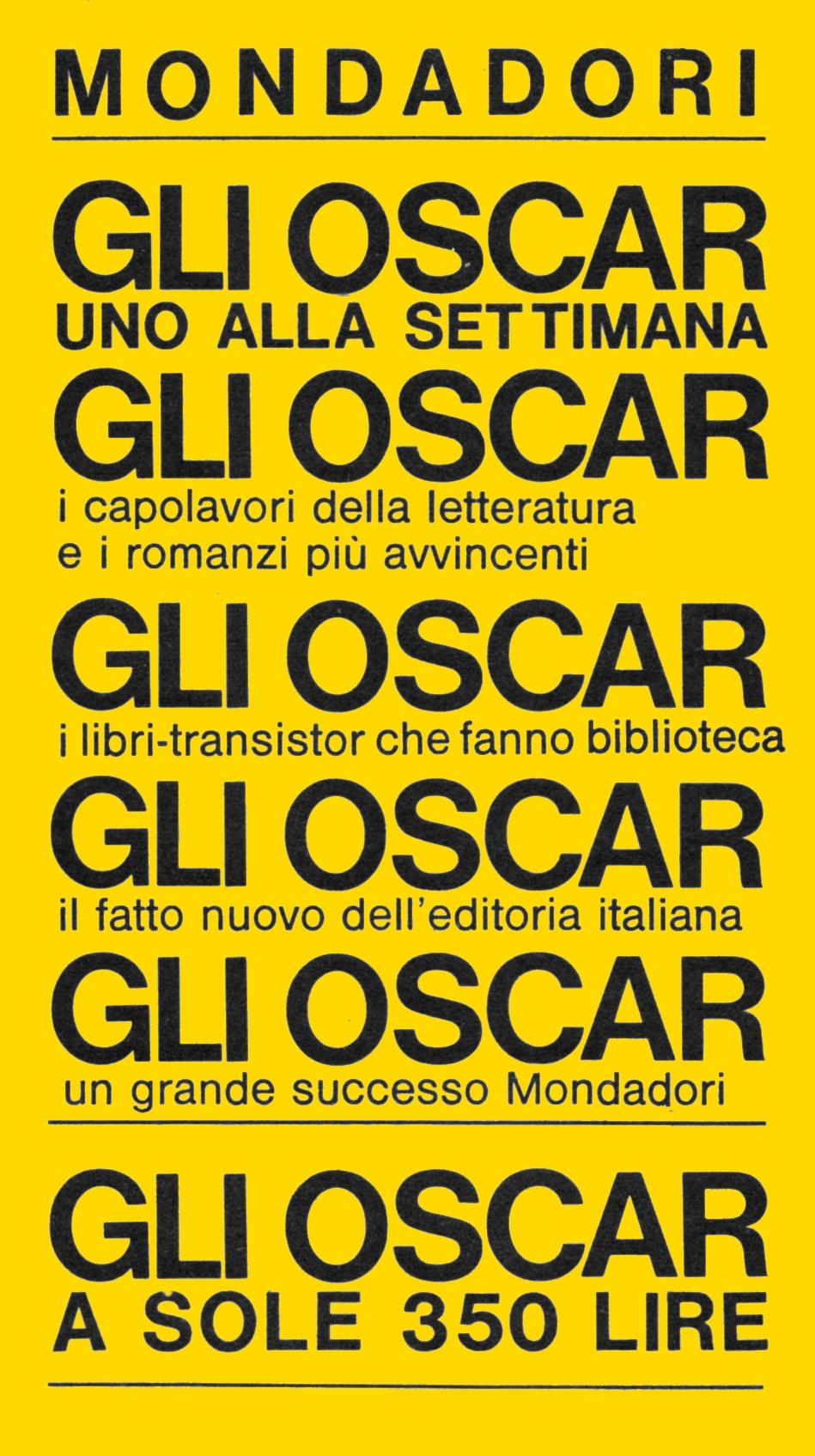 Oscar Mondadori nel 1965